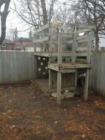 Free wood fence and deck good lumber