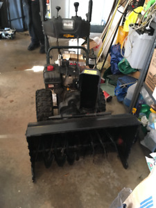 Snowblower recently serviced and ready to work.