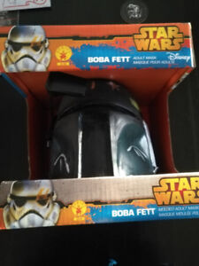 Disney Star Wars Boba Fett Adult Mask Helmet - Brand New in box