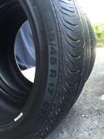 2 pneus d'été 235/45/17 continental contipro contact