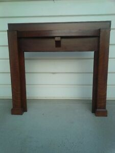 BEAUTIFUL ANTIQUE 1/4 OAK MANTLE