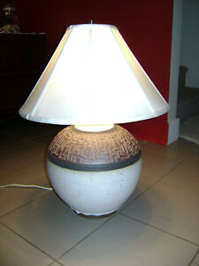 Large Pottery Lamp.