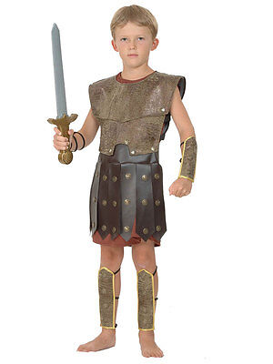 Child Warrior Outfit New Fancy Dress Costume Roman Centurion Soldier Kids Boys