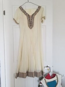 Indian Outfits - Anarkali - White & Gold Never Worn!