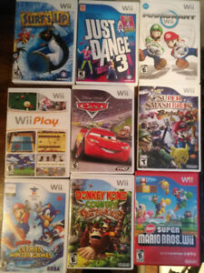 WII GAMES LOT Mario Donkey Kong and more