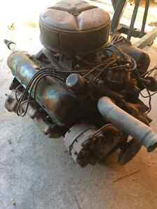 352 Ford engine and 3 speed trans with carb