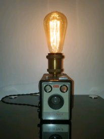 Upcycled Handmade Kodak Box Brownie Camera Lamp
