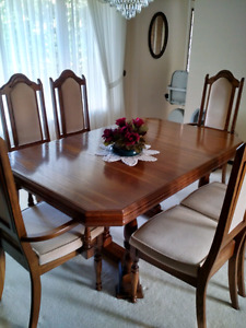 Real Wood Veneer Dining Set