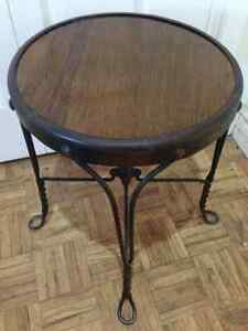 Wrought iron accent table Kitchener / Waterloo Kitchener Area image 3