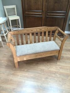 Hand crafted deacons bench