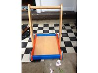 Toddlers wooden walker