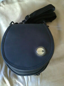 Black CD player and CD disc holder case carrying bag pouch