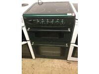 Beko green Electric Cooker 60cm wide