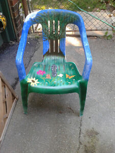 Unique Hand Painted Resin Deck Chairs -- $25 for the Pair London Ontario image 2