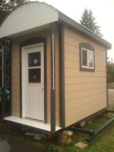 tiny home shed ice fish hunt storage playhouse guest in law