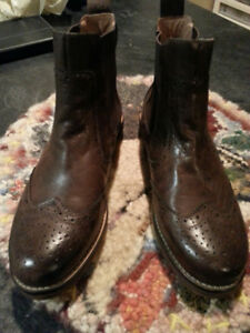 Ladies Miz Mooz brown leather boots for sale
