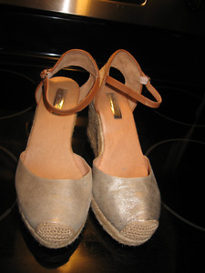 Leather Halogen Wedge sandals like new 7.5