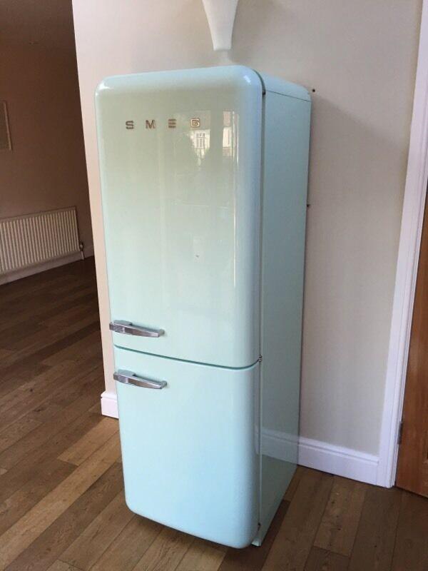 smeg fab32 fridge freezer pastel green in raynes park london gumtree. Black Bedroom Furniture Sets. Home Design Ideas