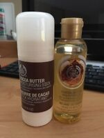 The Body Shop Cocoa Butter Moisturizing Stick & Beautifying Oil
