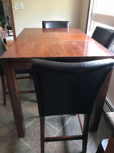 solid wood 8 chairs