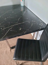 Marble table 4 chairs