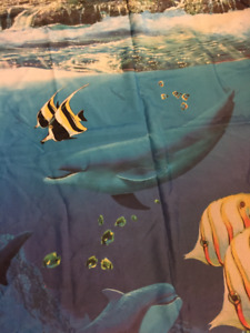 Dolphin theme shower curtains in excellent condition