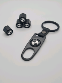 BMW dustcap and keyring set. High quality free p&p