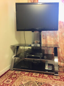 SHARP TV + + DVD +BTV all 3 with remote & TV stand ( Good Deal)