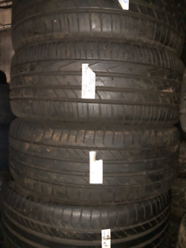 235 50 19 part worn tyres matching set of hankook used tires