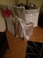 Set up of 100 the back chair covers (takes 1 hour ) -$60.00