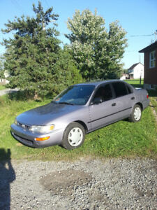 1997 Corolla low km,will safety.