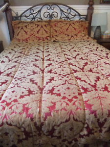 king size bedspread comforter and matching king shams