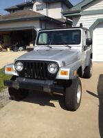 2005 Jeep TJ low kms, lifted