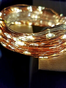200 LED 66 ft Solar Powered Copper Wire Lights with Solar Panel