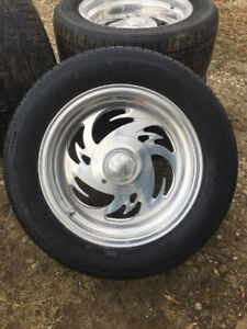 5x5 bolt pattern Billet rims/tires off 1986 chevy pickup