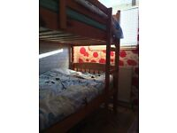 solid pine bunkbeds with matresses very good condition