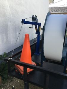 Continuous Gutter Machine 3 Spool New Trailer