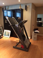 treadmill and weight bench