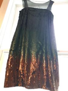 Antique style sequin dress