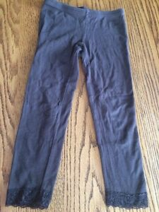 Old navy size five lace trimmed brown leggings chocolate brown London Ontario image 1