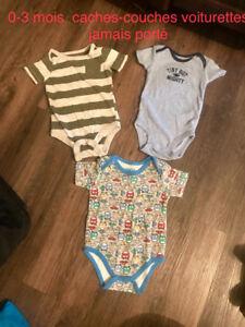 Vêtement garçon nouveau née à 3 mois