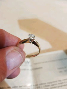 Lady's 0.52ct solitaire engagement ring
