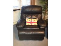 2 Black Leather Heat & Massage Recliner Chairs