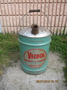 Rare Collectable Old VEDOL 5 Gallon OIL CAN