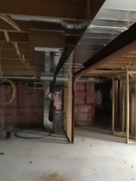 Furnace /duct relocation, whole house duct , add heat runs
