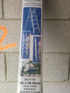 Compact Folding Ladder Aluminum 6 feet