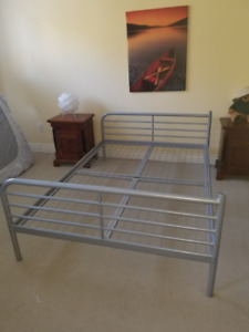 Ikea Double Bed / Metal Construction