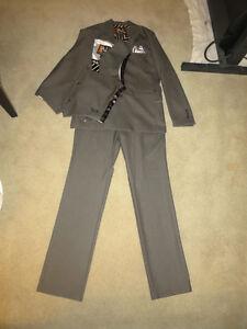 New grey Volcom suit jacket pants vest tie skate surf snowboard