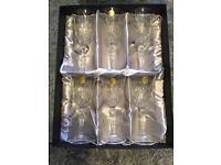 6 Italian crystal wine glass gift set