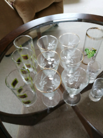 12x Drinking Glasses assorted sizes
